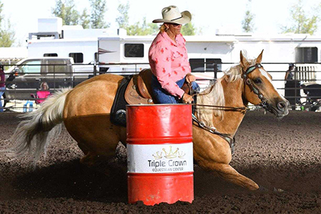 Linda Vick is Barrel Racing Champion
