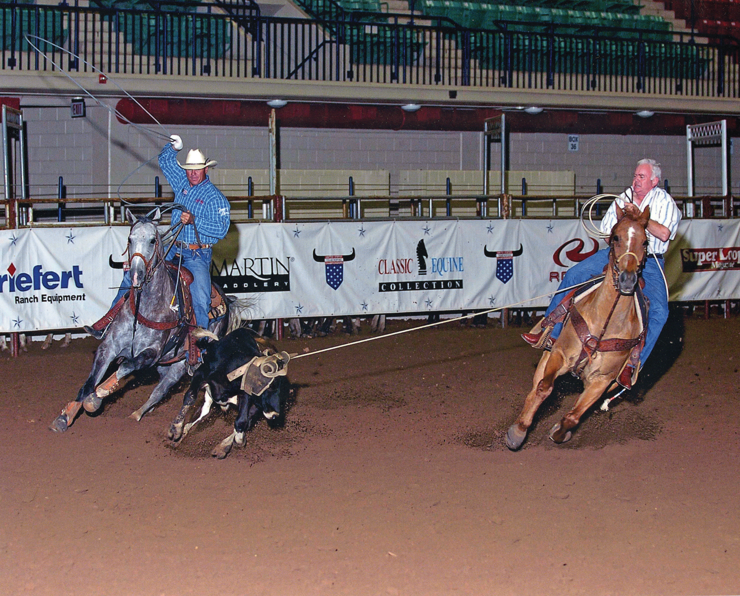 Vet's View Dr Galley roping with Clay Cooper